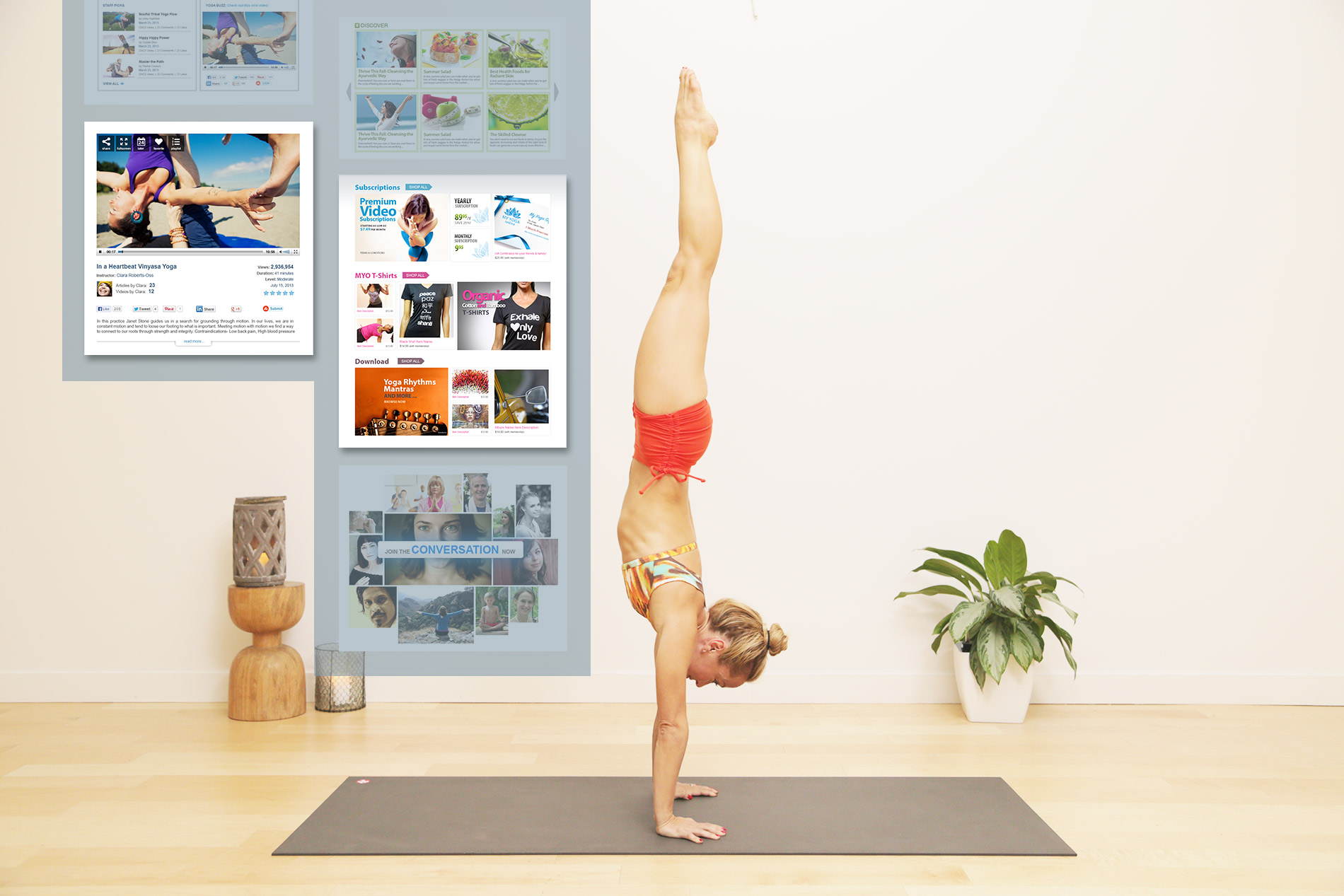 My Yoga Online Vancouver user interface design